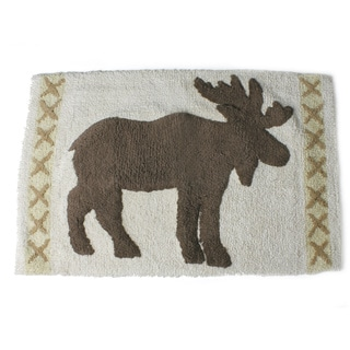 Saturday Knight Moose Silhoutte Lodge Rug