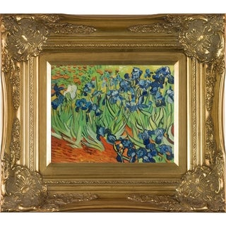 Vincent Van Gogh 'Irises' Hand Painted Framed Canvas Art