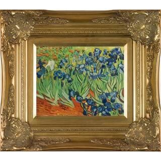 Vincent Van Gogh 'Irises' Hand Painted Framed Canvas Art