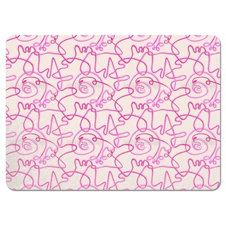 Action Painting Pink Placemats (Set of 4)