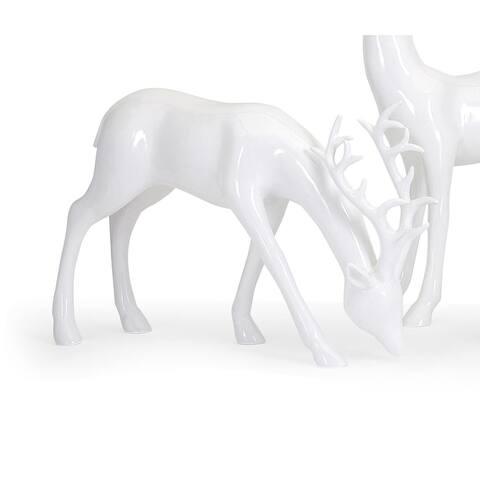 Reindeer- White-Left Holiday Decoration