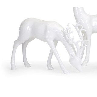 Reindeer- White-Left Holiday Decoration