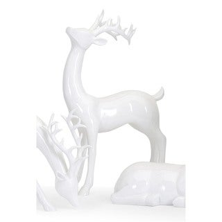 Reindeer- White -Right Holiday Decoration