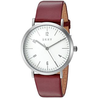 DKNY Women's NY2508 'Minetta' Red Leather Watch
