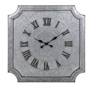 Crestin Galvanized Wall Clock