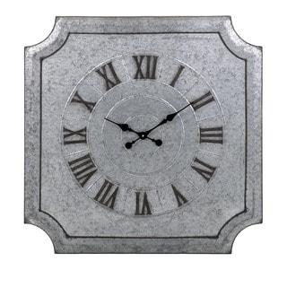 Crestin Galvanized Wall Clock
