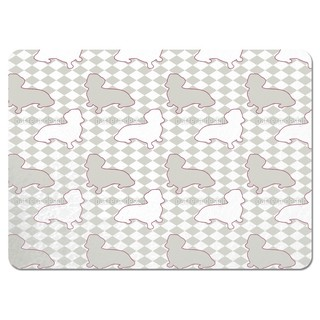 Dachshunds Mistress is Check Mate Placemats (Set of 4)