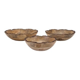 Damari Wood Bowls (Set of 3)