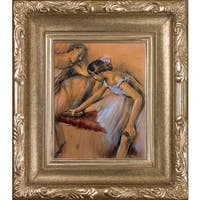 Edgar Degas 'Dancers in Repose' Hand Painted Framed Canvas Art