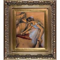 Edgar Degas 'Dancers in Repose' Hand Painted Framed Canvas Art