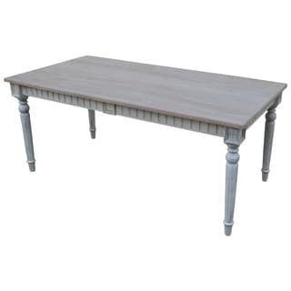 Signature Grey Wood Rectangle Dining Table