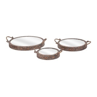Kaden Mirror Top Trays (Set of 3)