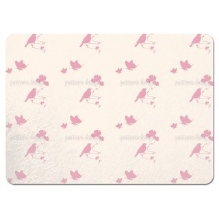 Animals in Spring Pink Placemats (Set of 4)