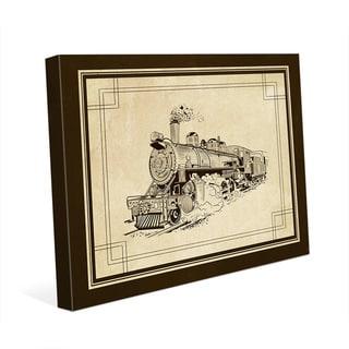 'Vintage Train' Canvas Wall Art