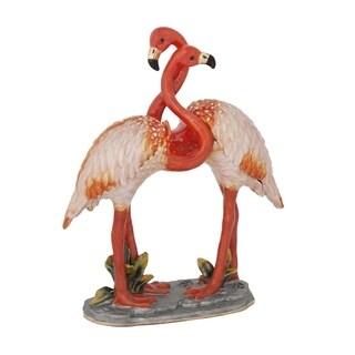 Mr and Mrs Pink Flamingo Trinket Box