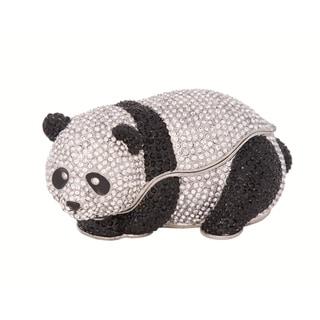Full Crystal Panda Bear Trinket Box