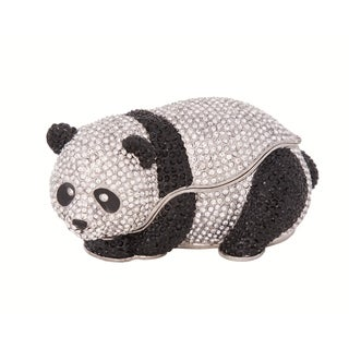 Full Crystal Panda Bear Trinket Box