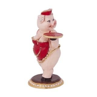 Nancy the Pig Pink Pewter Trinket Box