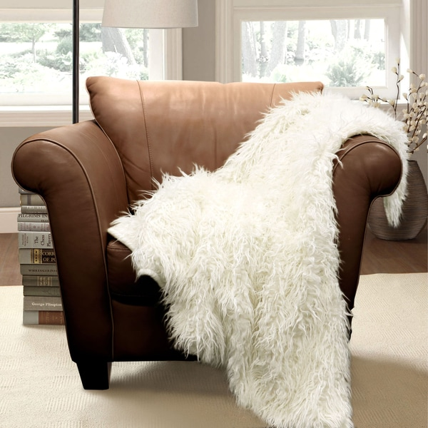 Lush Decor Luca Faux Fur Throw