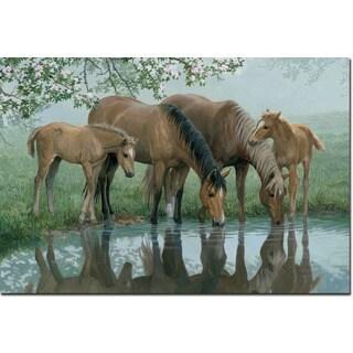 WGI Gallery 'Sweet Spring Horses' Wall Art Printed on Wood