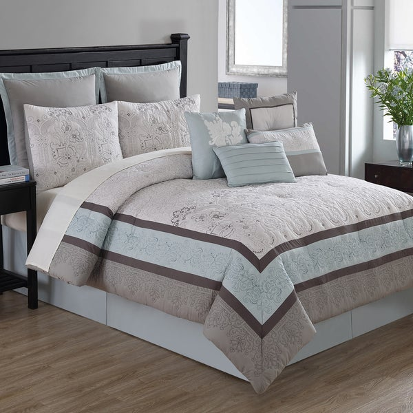 Arianna 10 Piece Comforter Set With 4 Decorative Accent Pillows