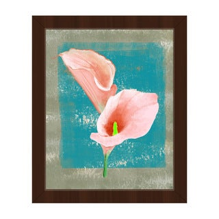 Gentle Calla Lily Framed Canvas Wall Art