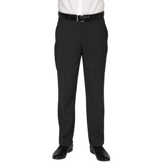 Kenneth Cole New York Men's Technicole Black Polyester-blend Trousers (More options available)