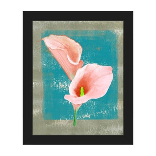 'Gentle Calla Lily' Framed Canvas Wall Art