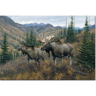 WGI Gallery 'Working the Ridge' Wall Art Printed on Wood