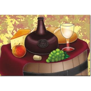 WGI Gallery 'Wine and Cheese' Wall Art Printed on Wood