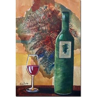 WGI Gallery 'Wine Bottle and Leaf' Wall Art Printed on Wood