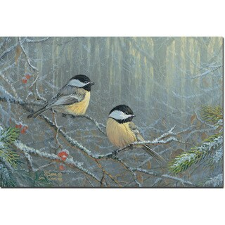 WGI Gallery 'Winter Breeze Chickadee' Wall Art Printed on Wood