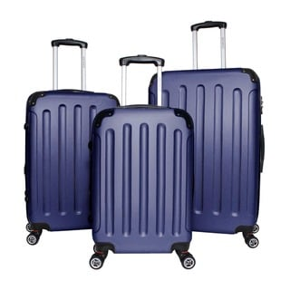 World Traveler Milan 3-piece Expandable Hardside Lightweight Spinner Luggage Set