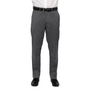 Kenneth Cole New York Men's Light Grey Polyester-blend Trousers