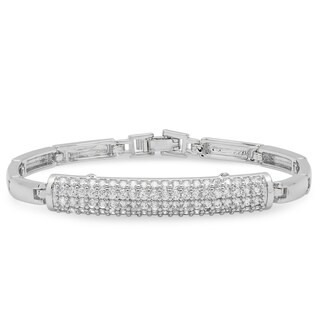Piatella Ladies Gold Tone Cubic Zirconia Identification Bracelet in 2 Colors