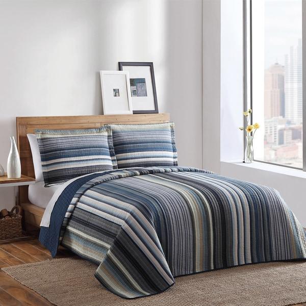 Brooklyn Loom Bay Ridge Yarn-Dyed 3-piece Quilt Set