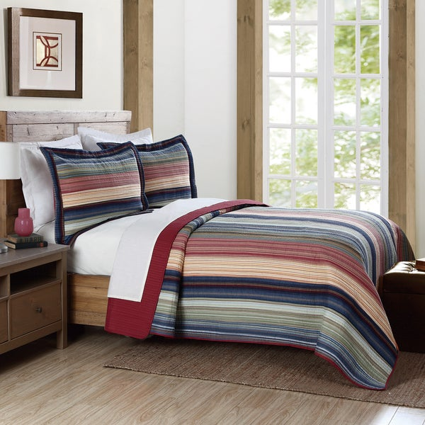 Brooklyn Loom Coney Island Yarn-Dyed 3-piece Quilt Set