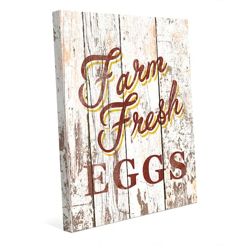 Farm Fresh Eggs Canvas Wall Art