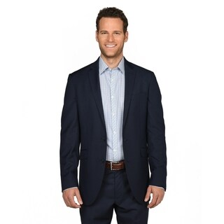 Kenneth Cole Men's Reaction Blue Polyester/Rayon Box Sports Coat