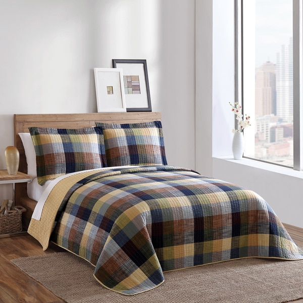 Brooklyn Loom Park Slope Yarn-dyed 3-piece Quilt Set