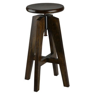 Bare Decor Rorie Adjustable Swivel Solid Wood Counter Height Stool