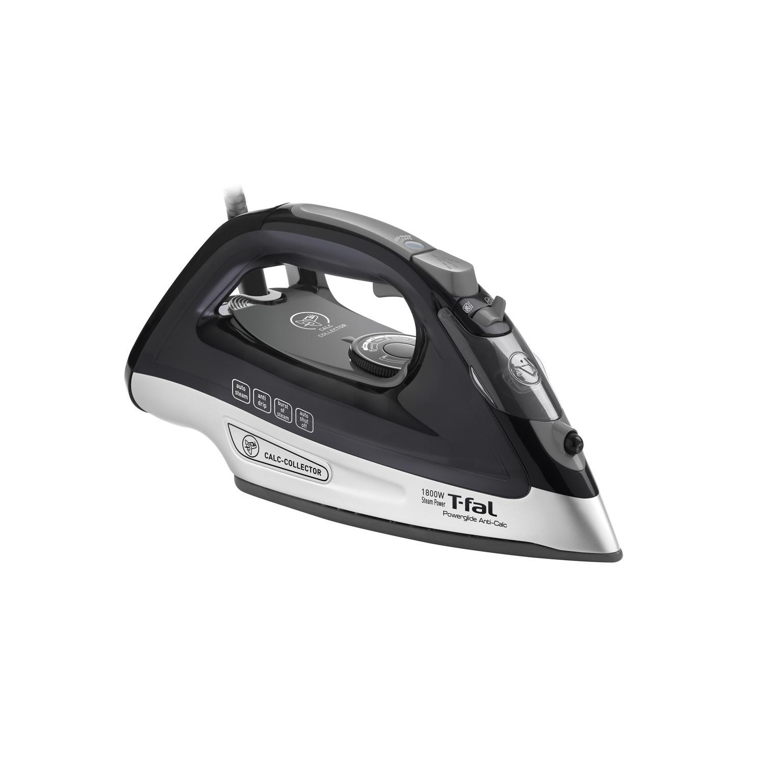 T-FAL PowerGlide Steam Iron, Black