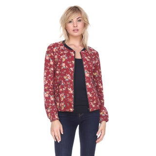 Stanzino Women's Floral Cotton-polyester Zip-up Jacket
