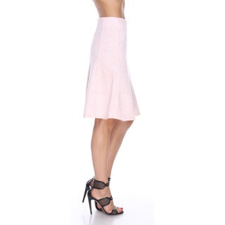 Stanzino Women's Polyester and Spandex A-line Flared Skirt