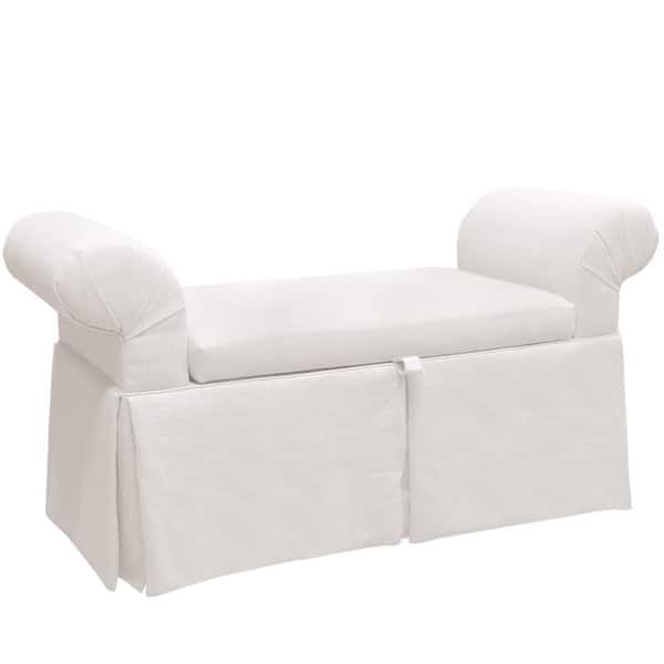 Marvelous Skyline Furniture Skyline Zuma White Skirted Queen Anne Bench Ibusinesslaw Wood Chair Design Ideas Ibusinesslaworg