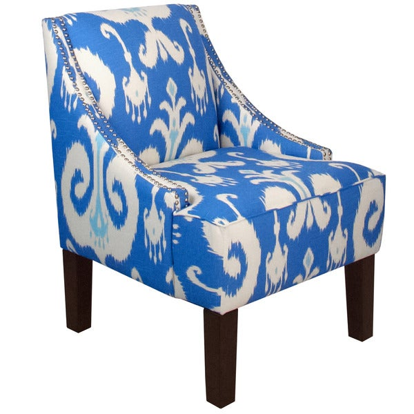 Bon Skyline Furniture Skyline Himalaya Porcelain Nail Button Swoop Arm Chair