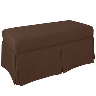 Skyline Furniture Skyline Twill Chocolate Skirted Storage Bench