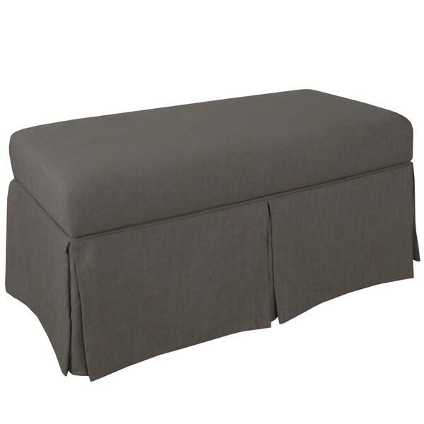 Charmant Skyline Furniture Skyline Twill Grey Skirted Storage Bench