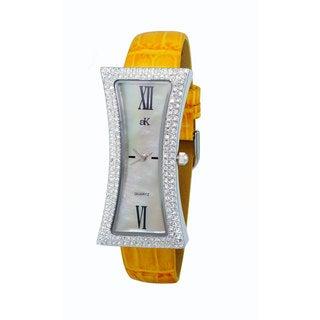 Adee Kaye Ladies' Curvacious Crystal Watch