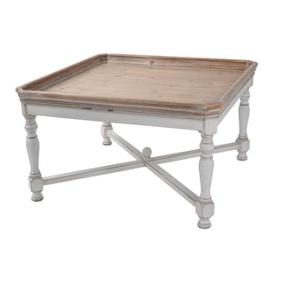 A and B Home Brown and Cream Tray Table